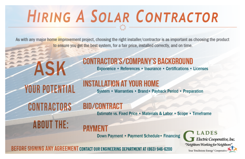 Considering Solar Glades Electric Cooperative
